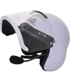 Integral helmet with internal PM100 headset