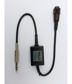 Microlight headset to 6.35mm single jack intercom